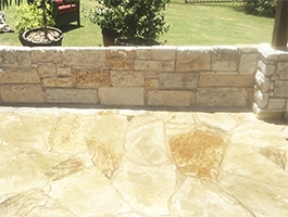 Stone Deck and Wall